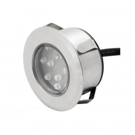 Set Of 3 Mini LED Ground Spot Lights In Stainless Steel Finish