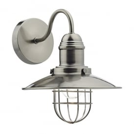 Terrace Single Light Wall Fitting in Antique Chrome Finish