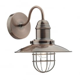 Terrace Single Light Wall Fitting in Copper Finish