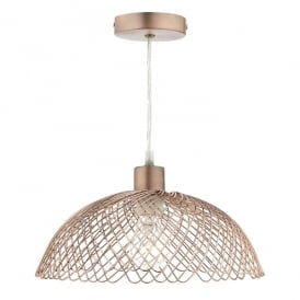 Isobel Easy Fit Ceiling Pendant in Copper Finish
