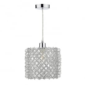 Nett Easy Fit Ceiling Pendant in Silver Effect Finish