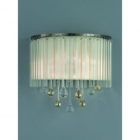 Ambience 2 Light Wall Fitting in Bronze And Clear Crystal Glass Finish