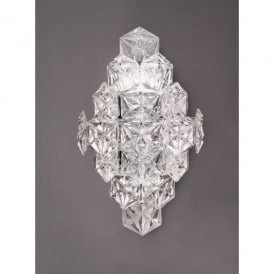 Mosaic 6 Light Wall Fitting In Polished Chrome Finish With Crystal Glass Shade