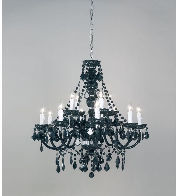 4 LIGHT JET BLACK CRYSTAL CHANDELIER FREE SHIPPING | eBay