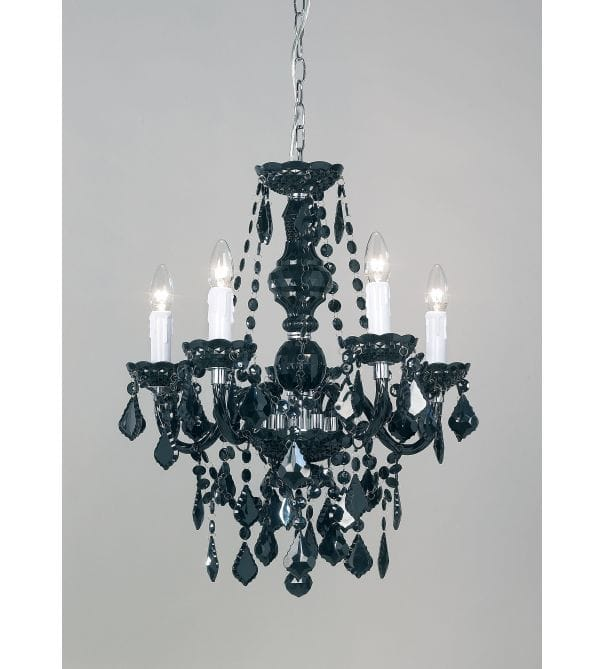Elizabeth 5-Light Black Crystal Chandelier