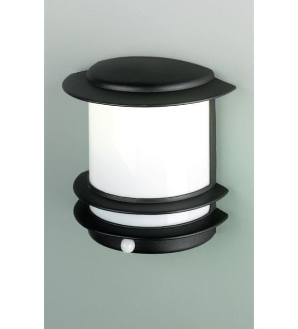 Elstead Lighting Azure Low Energy Black Outdoor Light With Pir Elstead Ligh