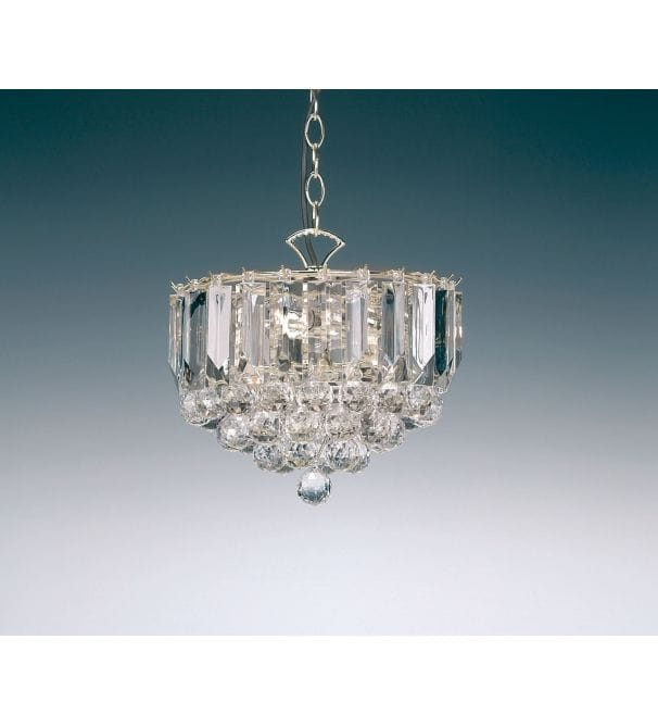 Endon Lighting Acrylic Crystal 3 Light Chrome Pendant - Endon Lighting .