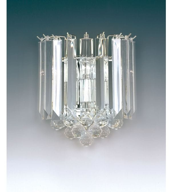 Endon Lighting Acrylic Crystal 2 Light Chrome Wall Light - Endon Lighting from Castlegate Lights UK