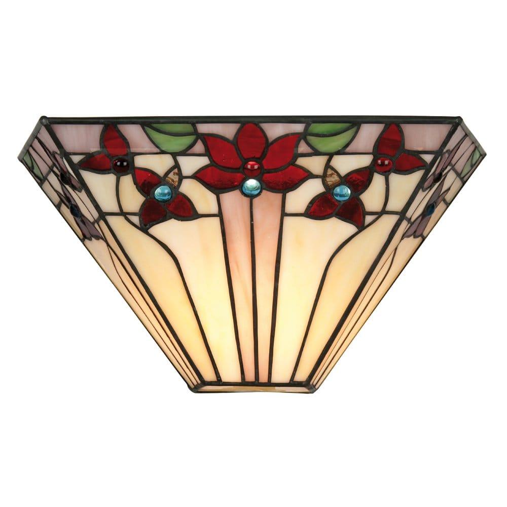 Small Tiffany Wall Lights : Oaks Lighting Camillo Tiffany Wall Light - Oaks Lighting from Castlegate Lights UK