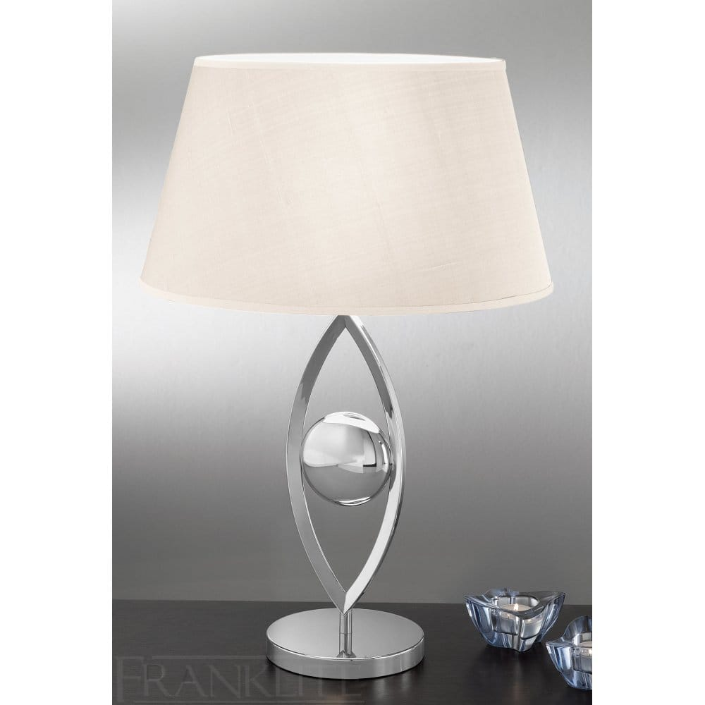 Franklite Modern Chrome Finish Table Lamp