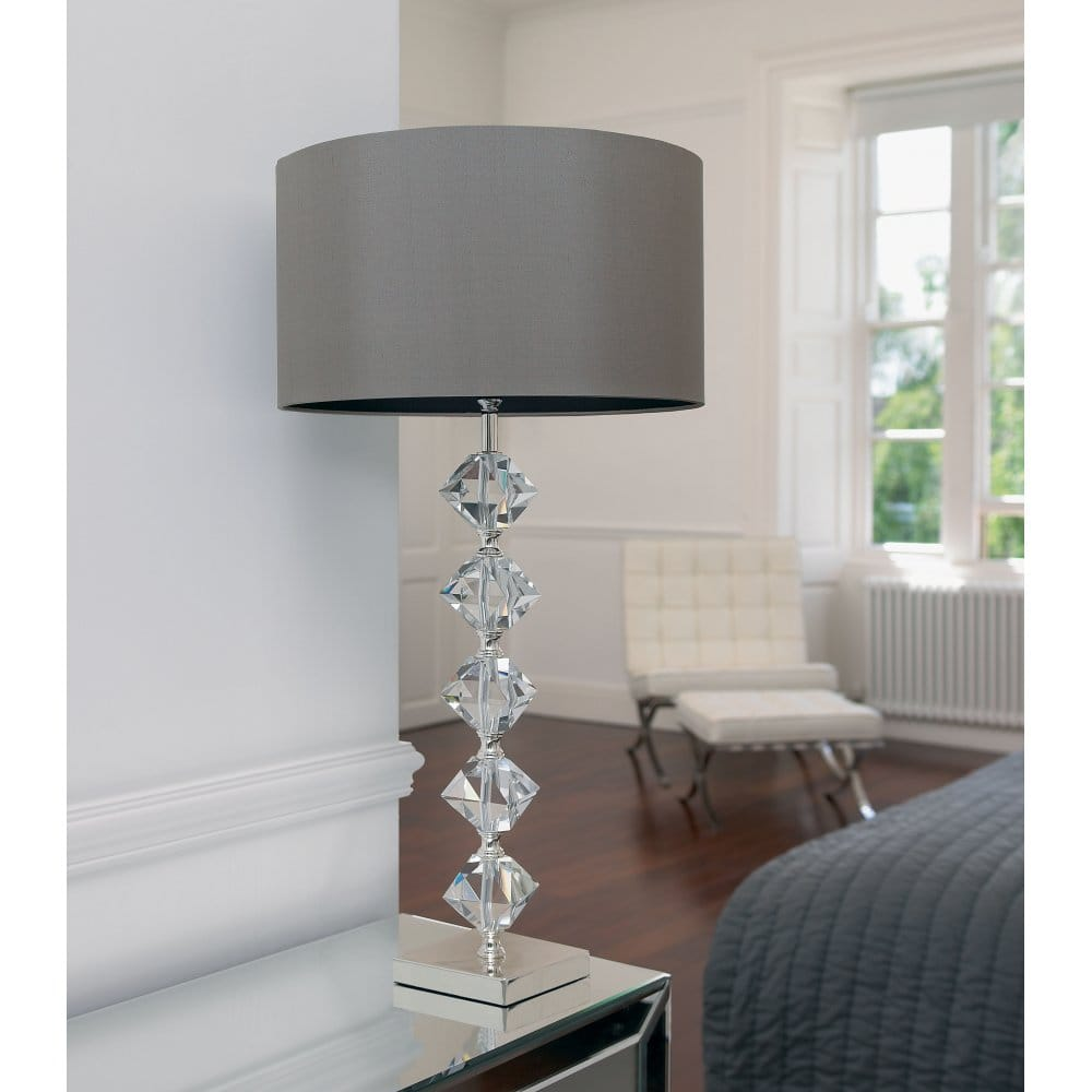 Crystal Table Lamp Online Furntastic Endon Lighting Verdone Single Light In Silver