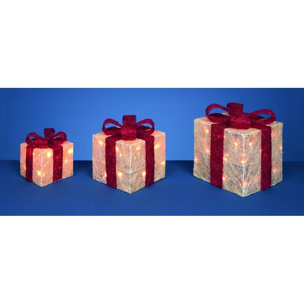 Light Up Parcels Christmas Decorations Argos: Christmas Parcel Decorations