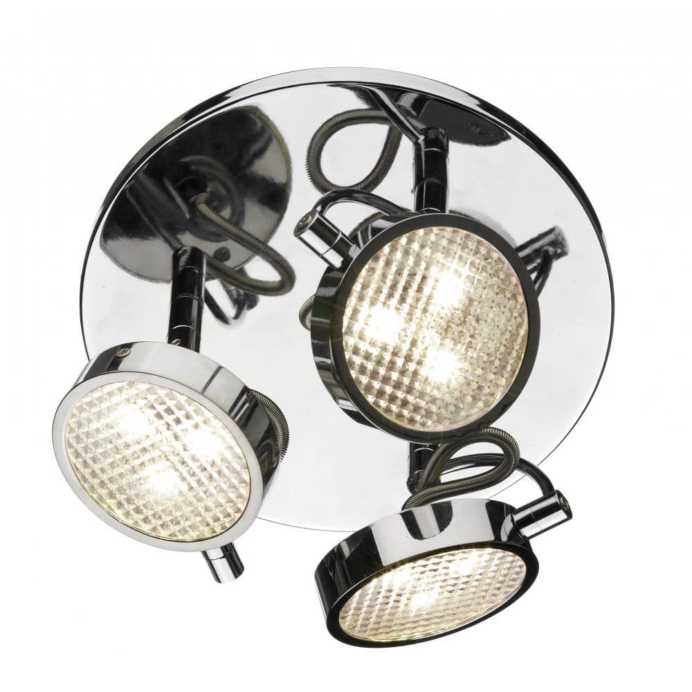 Led Spotlights Ceiling: Dar Lighting Eagle 3 LED Spot Light Ceiling Fitting