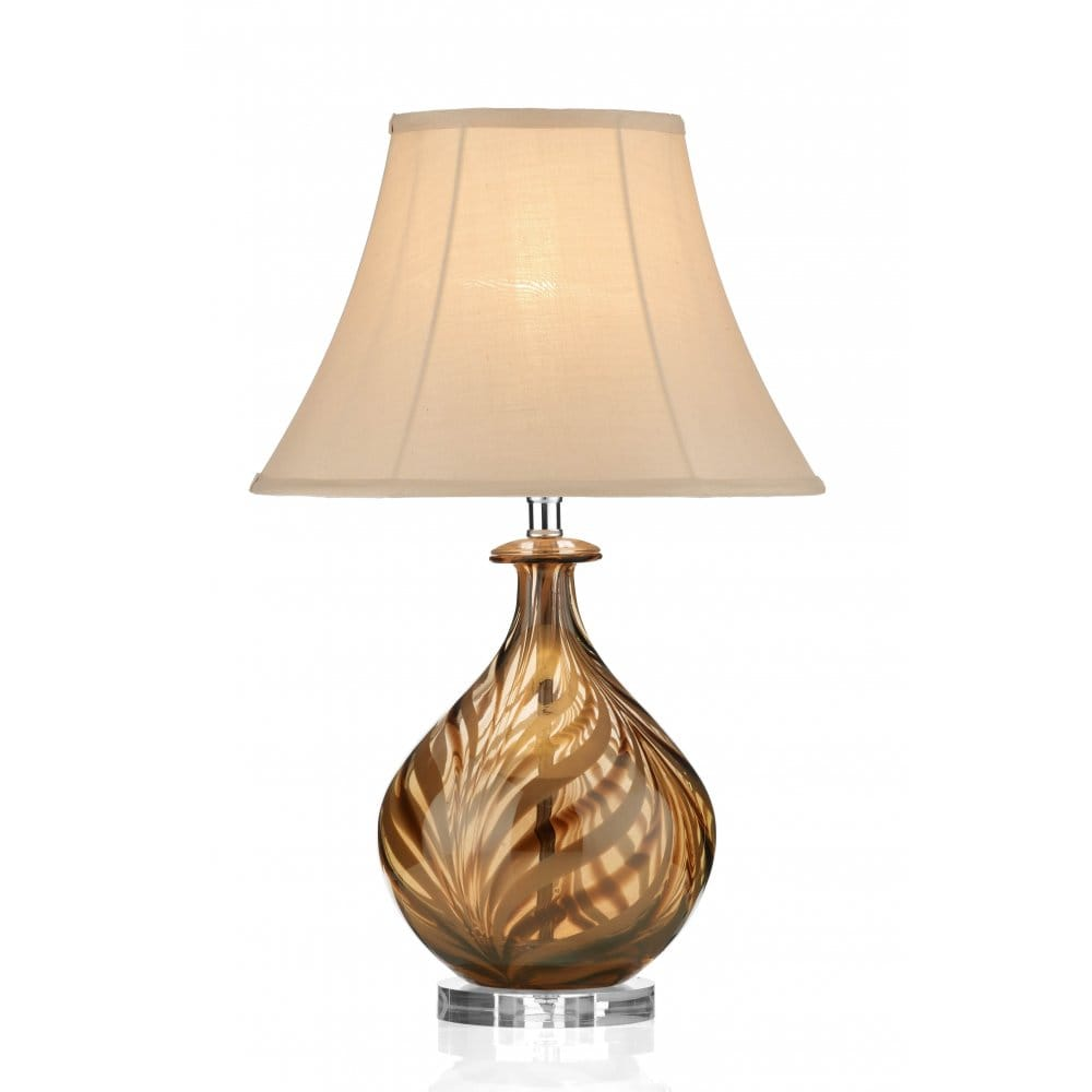 Dar Lighting Tiger Glass Table Lamp