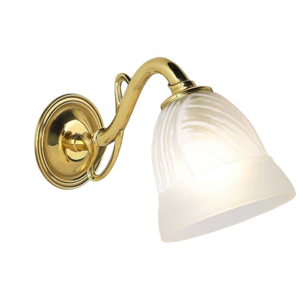 Brass Single Wall Lights : Elena Brass Single Wall Light In 4 Finishes - from Castlegate Lights UK