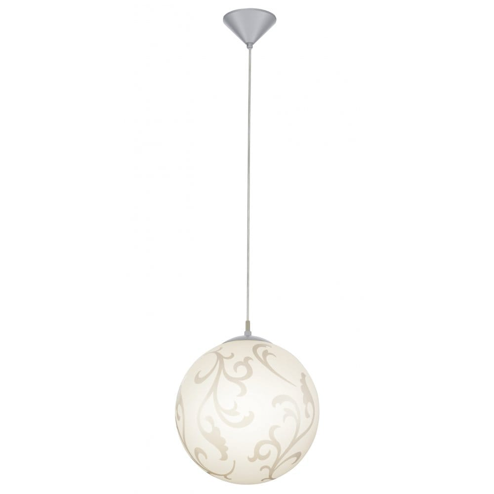 eglo lighting rebecca single light large decorative white