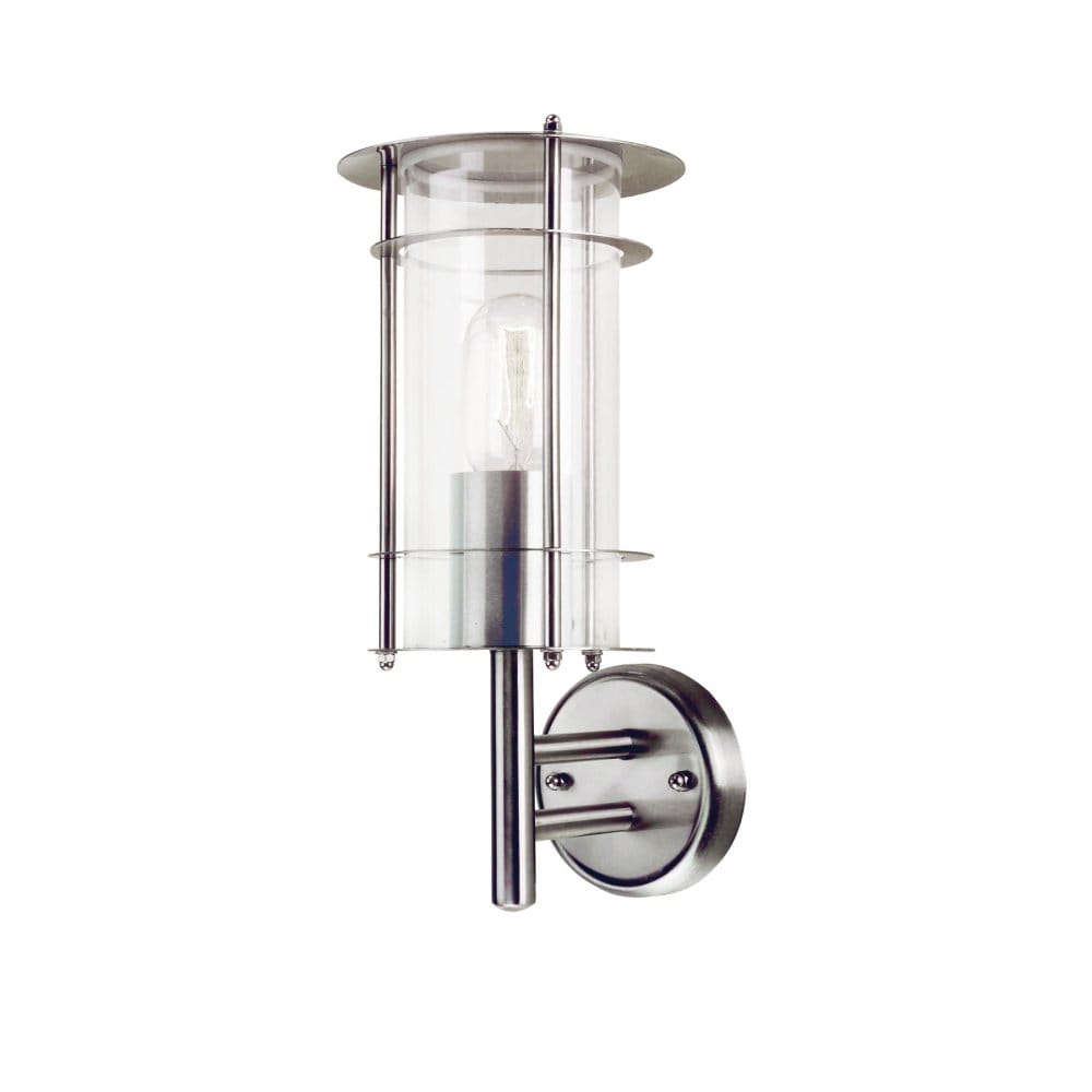 Wall Lantern External : Elstead Lighting Prague Stainless Steel Outdoor Wall Lantern - Elstead Lighting from Castlegate ...