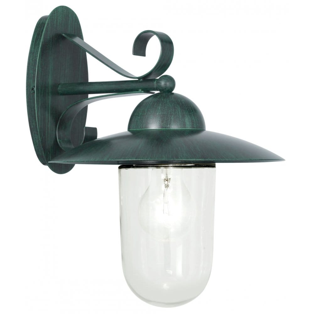 Porch Light Green: Eglo Lighting Milton Green Antique Outdoor Wall Light