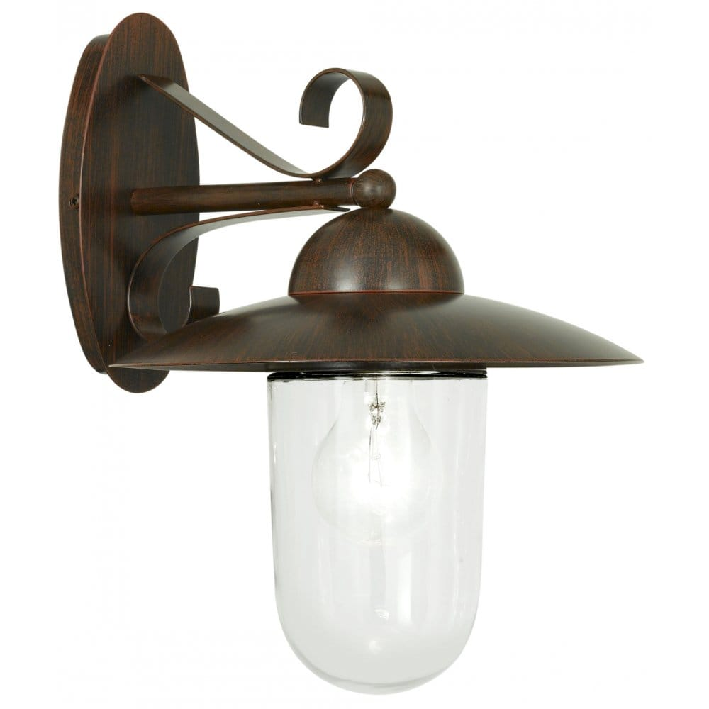 Eglo Lighting Milton Brown Antique Outdoor Wall Light - Eglo Lighting from Castlegate Lights UK