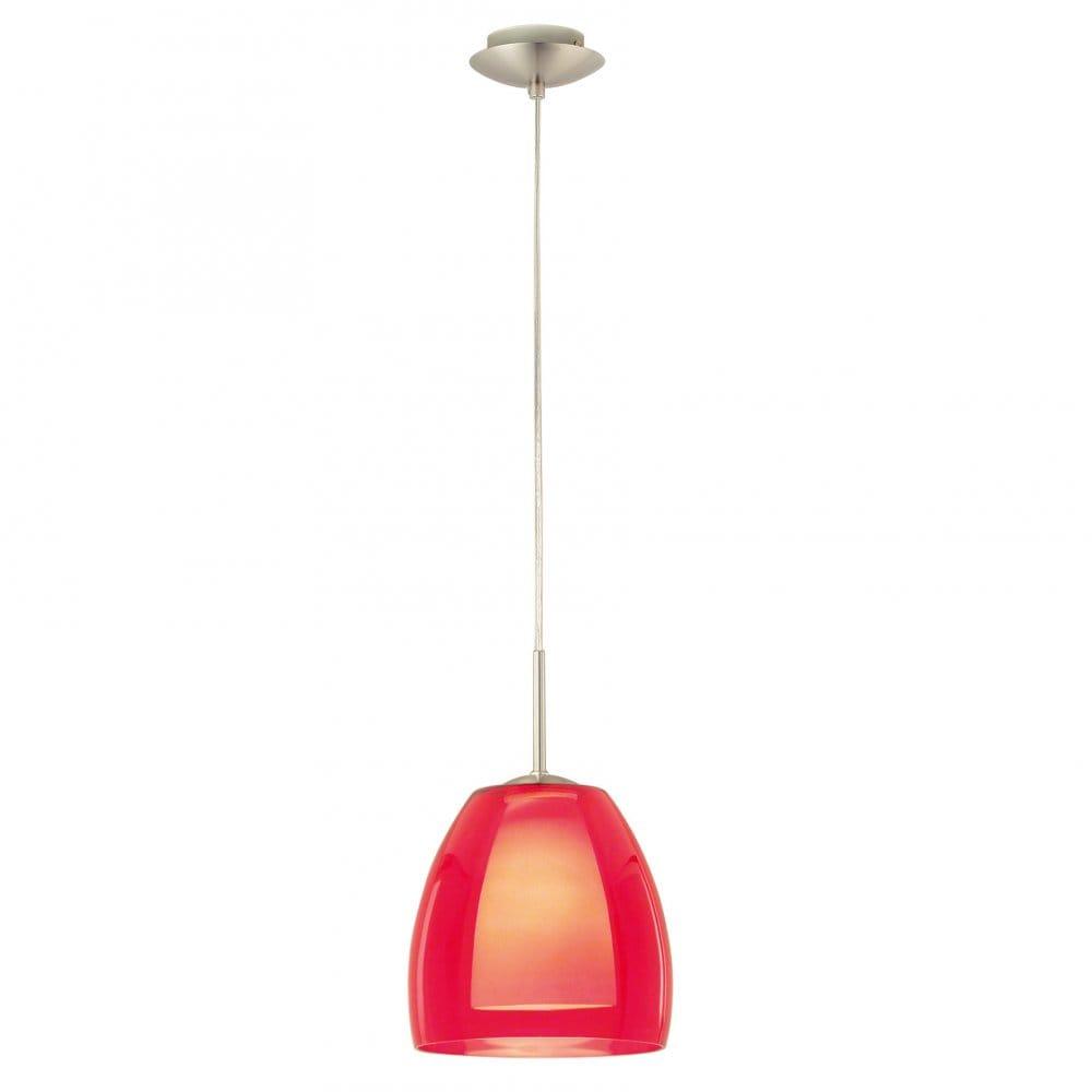 Eglo Lighting 87489 Fargo Red Glass Ceiling Pendant