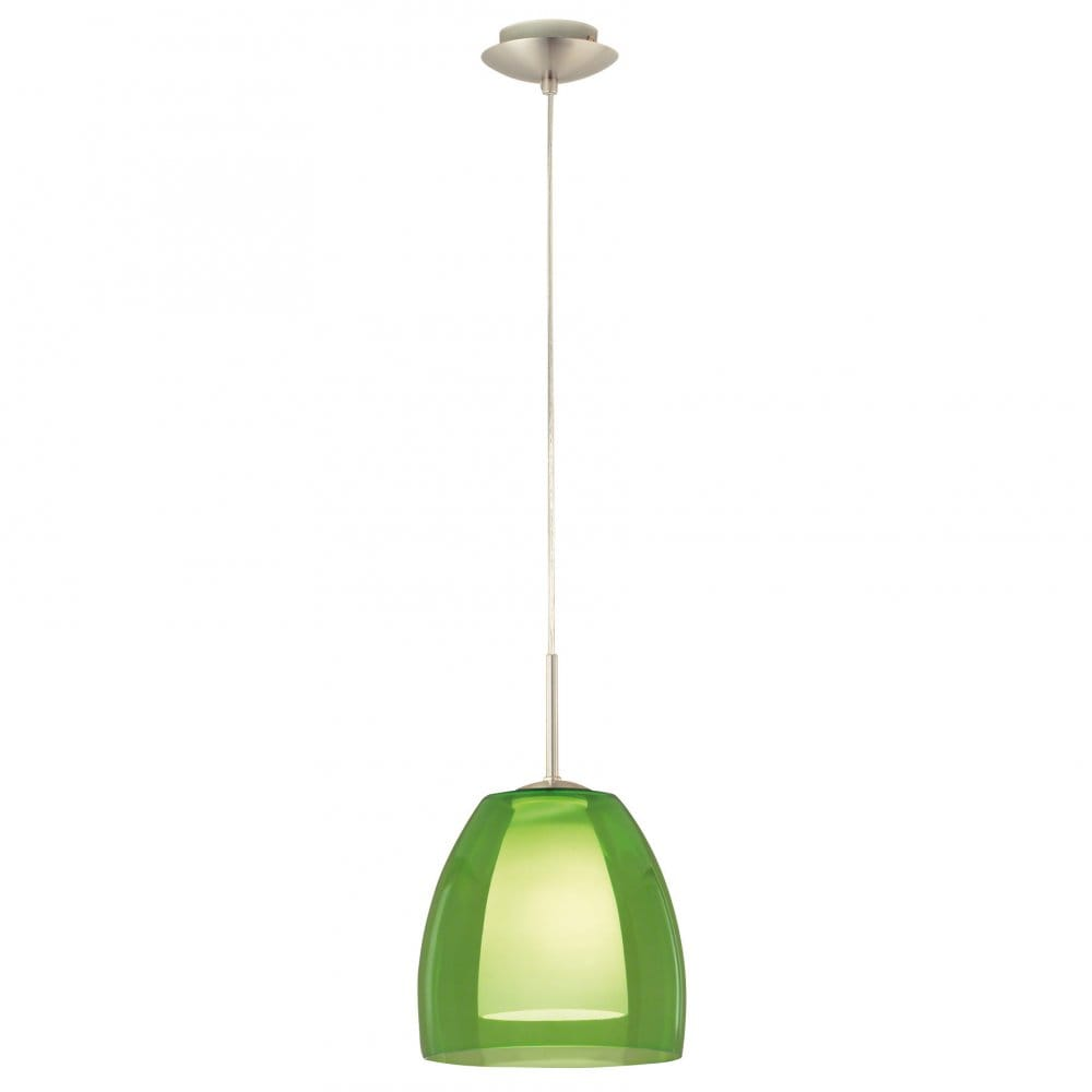 Eglo Lighting Fargo Green Glass Ceiling Pendant