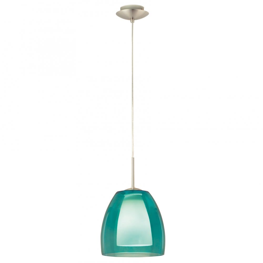 Eglo Lighting Fargo Blue Glass Ceiling Pendant
