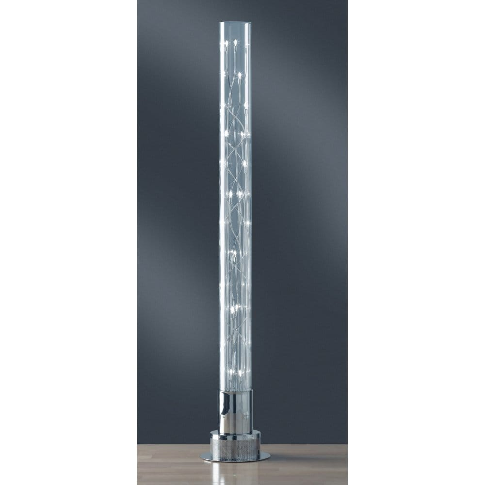 Wofi michigan chrome halogen 24 bulb floor lamp wofi for Halogen bulb for floor lamp
