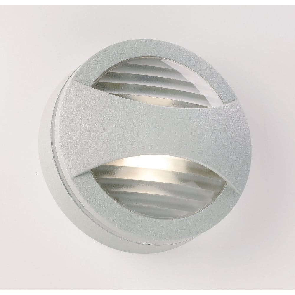 Endon Lighting Enluce Single Light Low Energy Outdoor Fitting In Silver Finis
