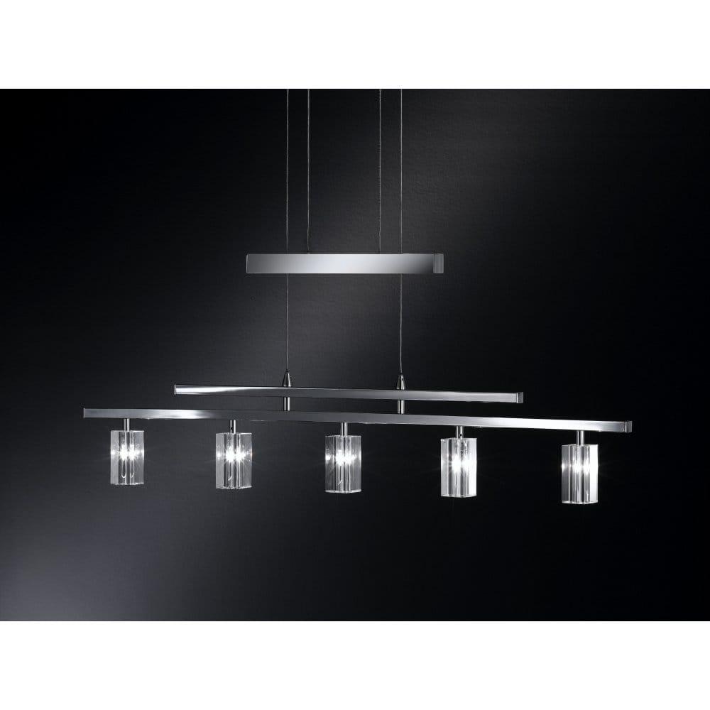 Wofi dover chrome halogen rise and fall 5 light pendant wofi from castlegate lights uk - Guide massive bathroom lighting optimum illumination ...