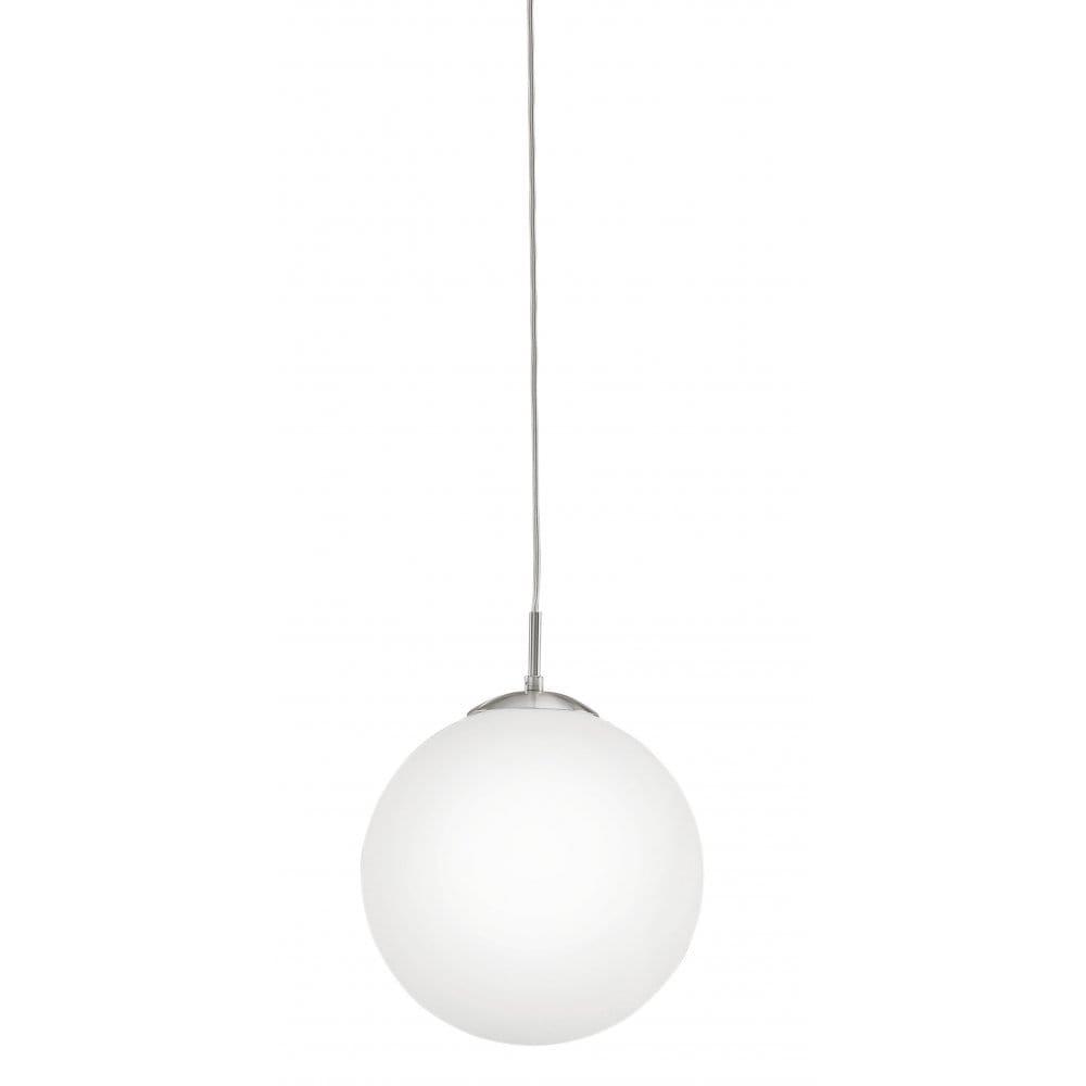Glass Globe Pendant Light Nz Large Uk Clear Fixtures: Eglo Lighting Rondo Large Opal White Glass Globe Ceiling