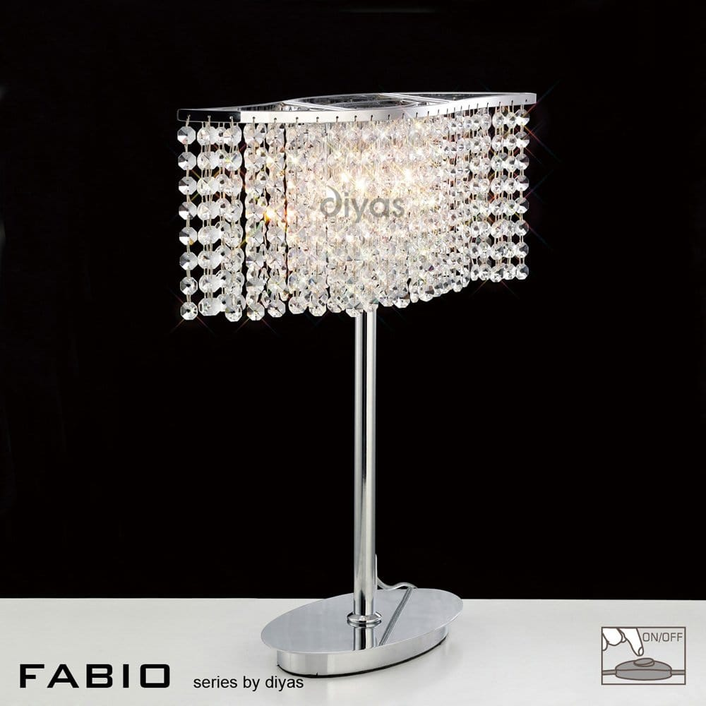 diyas fabio 2 light halogen crystal table lamp diyas from castlegate lights uk. Black Bedroom Furniture Sets. Home Design Ideas