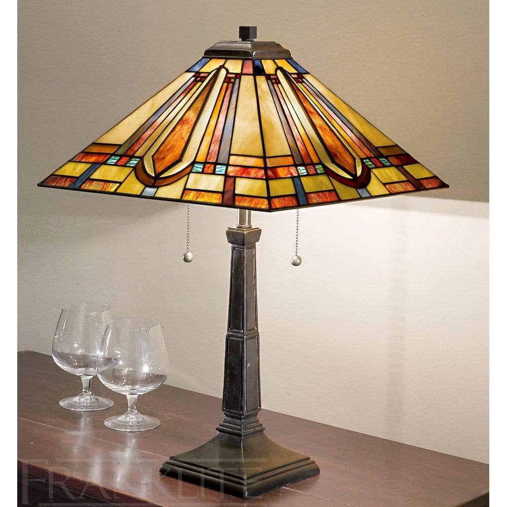 Franklite Charleston Tiffany Table Lamp