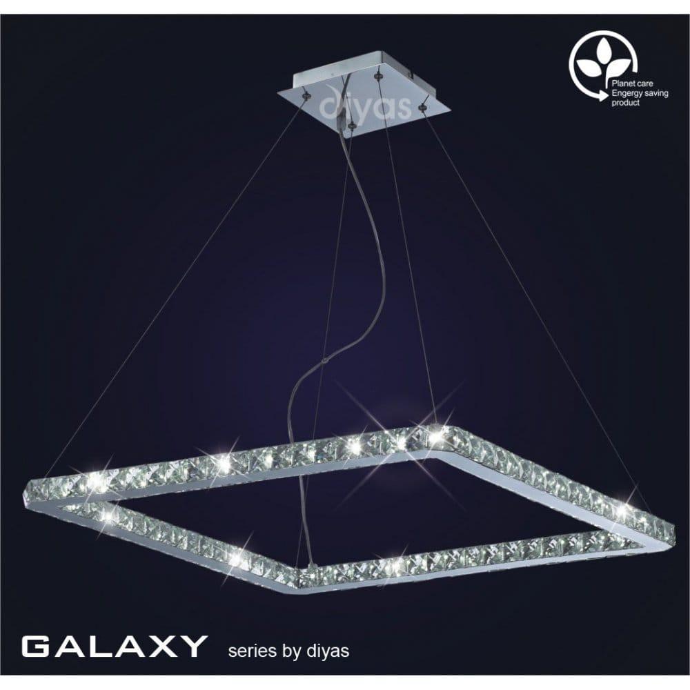 Led Ceiling Lights Daylight : Diyas galaxy light daylight white led square ceiling