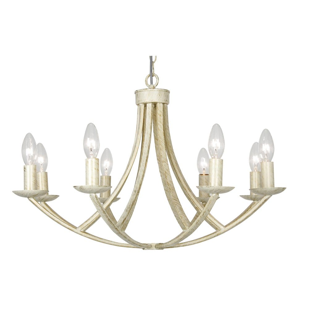 Oaks Lighting Caro Black Brushed Gold or Cream Gold 8 Light Fitting - Oaks Lighting from ...