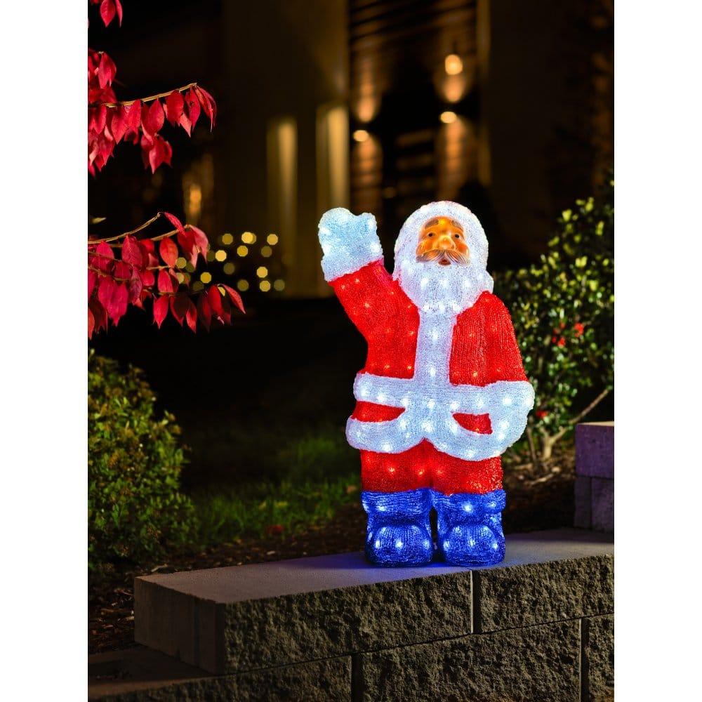 Outdoor santa light led claus lights konstsmide