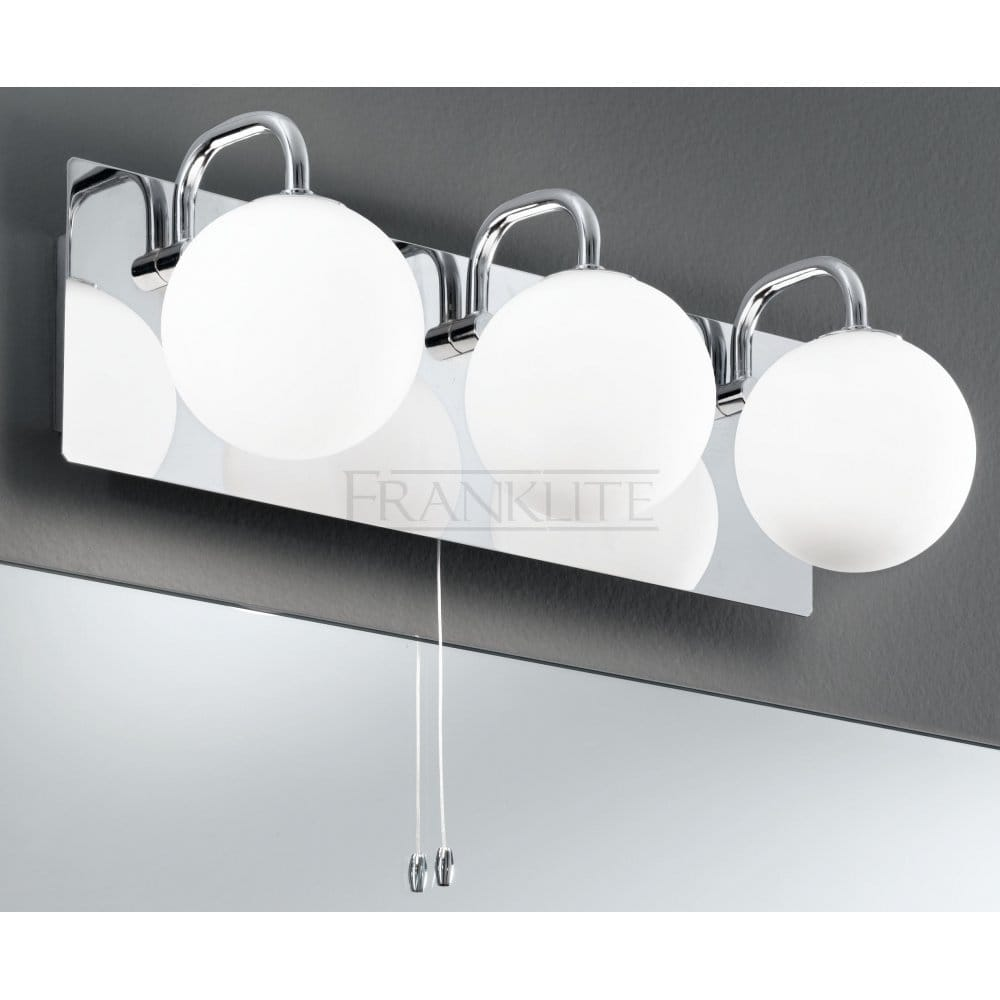 Franklite Modern 3 Light Bathroom Wall Fitting In Polished