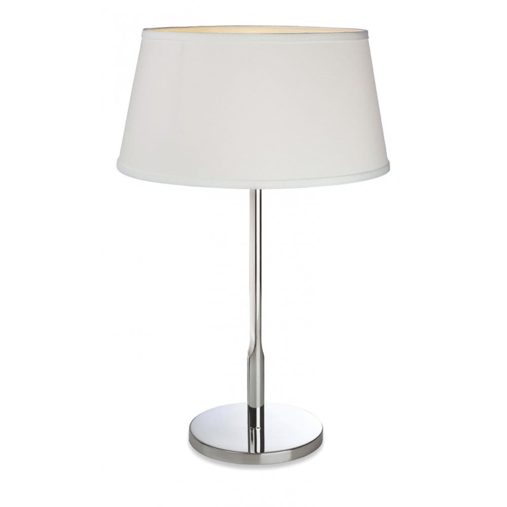 firstlight transition table lamp in polished stainless. Black Bedroom Furniture Sets. Home Design Ideas
