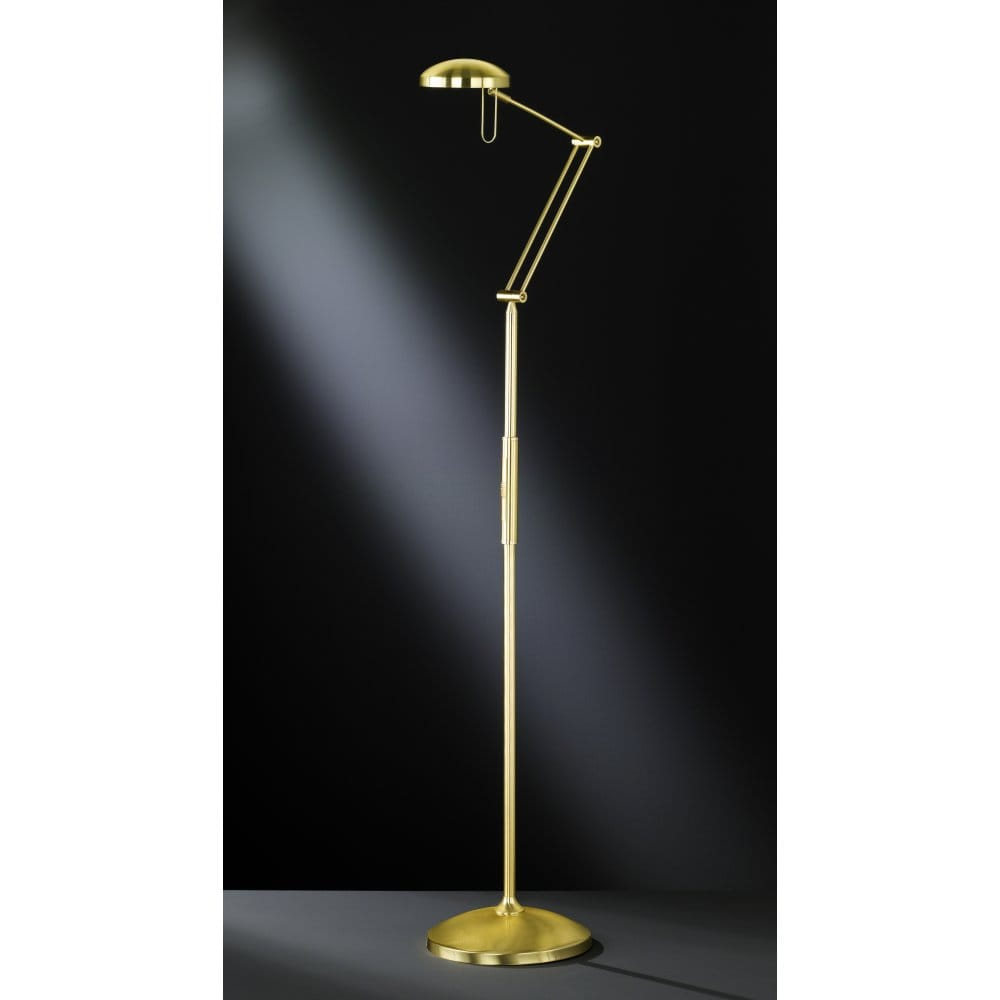 wofi fox matt brass halogen touch floor lamp with. Black Bedroom Furniture Sets. Home Design Ideas