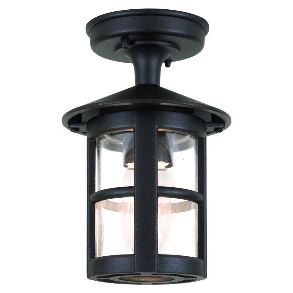 Elstead lighting hereford single light outdoor semi flush for Outdoor ceiling lights for porch