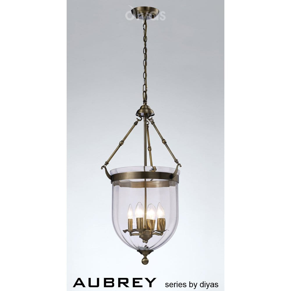 Diyas Aubery 4 Light Lantern Style Ceiling Pendant In An