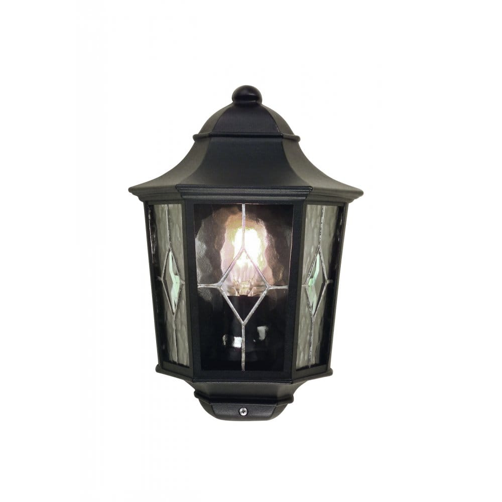 Black Lantern Wall Lights : Elstead Lighting NR7/2 Norfolk Single Light Flush Wall Lantern in Black Finish - Elstead ...