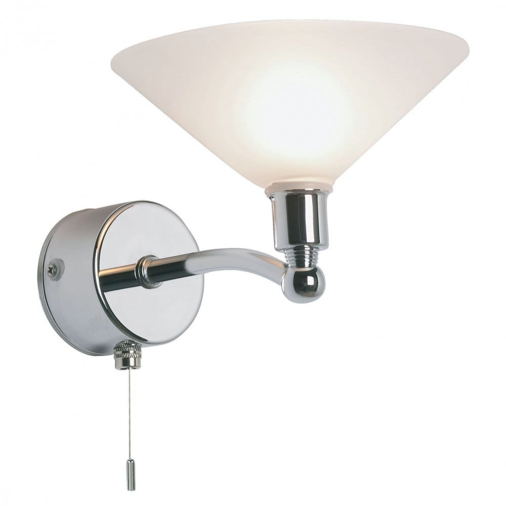Endon Lighting Enluce Single Light Halogen Switched Bathroom Wall Fitting In Polished Chrome ...