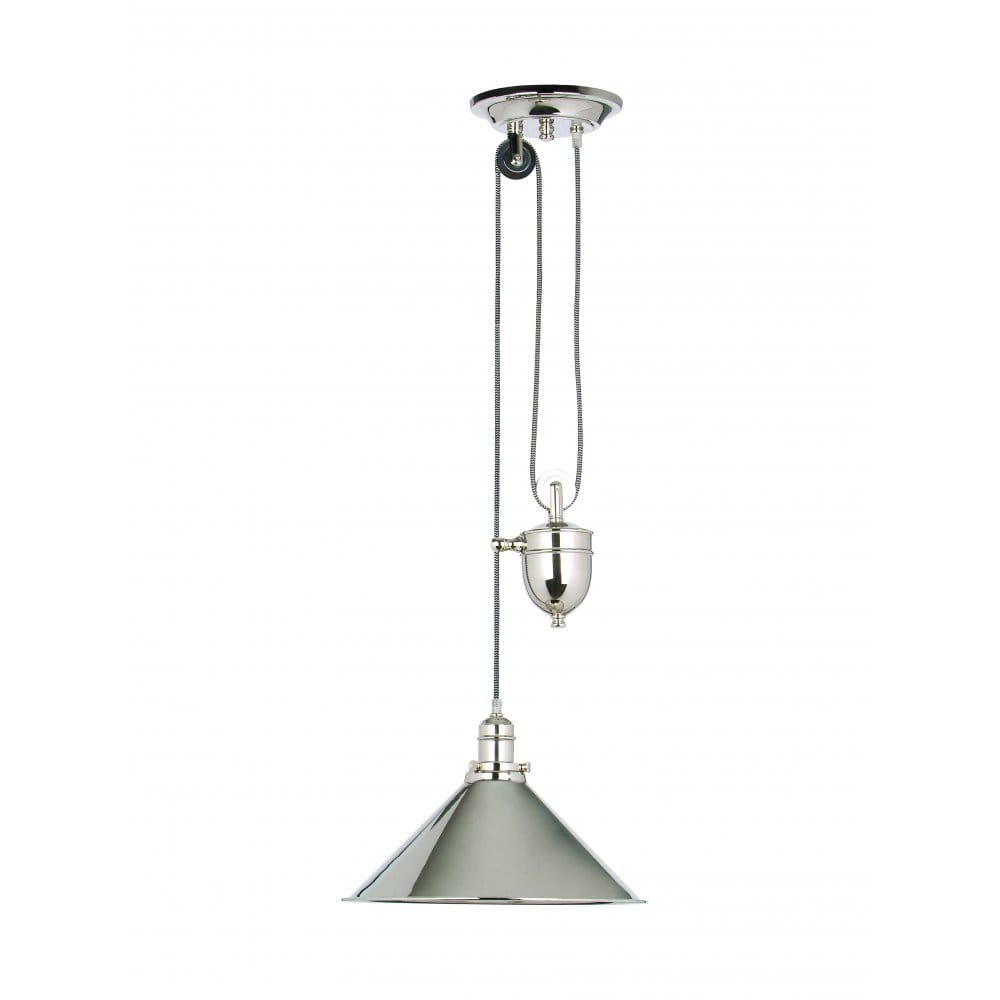 Industrial Rise And Fall Pendant Light: Elstead Lighting Provence Single Light Rise And Fall