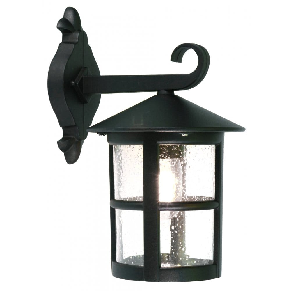 Lantern Type Wall Lights : Elstead Lighting Hereford Large Single Light Outdoor Hanging Wall Lantern in a Black Finish ...