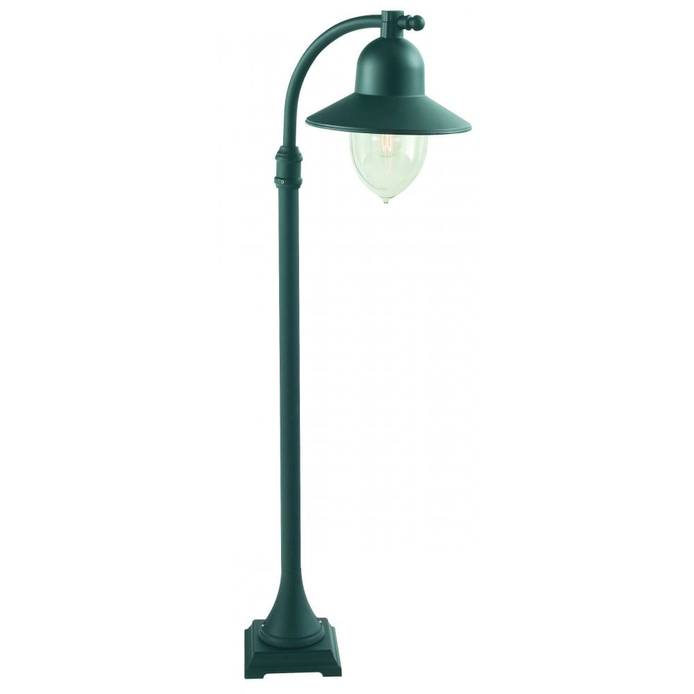 Elstead lighting como outdoor lamp post in black gold for Christmas decorations for outside lamp post