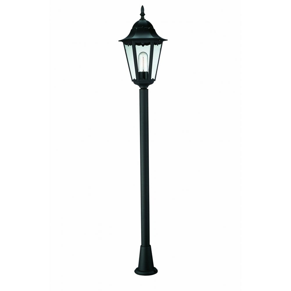 massive zagreb single light outdoor lamp post in black. Black Bedroom Furniture Sets. Home Design Ideas