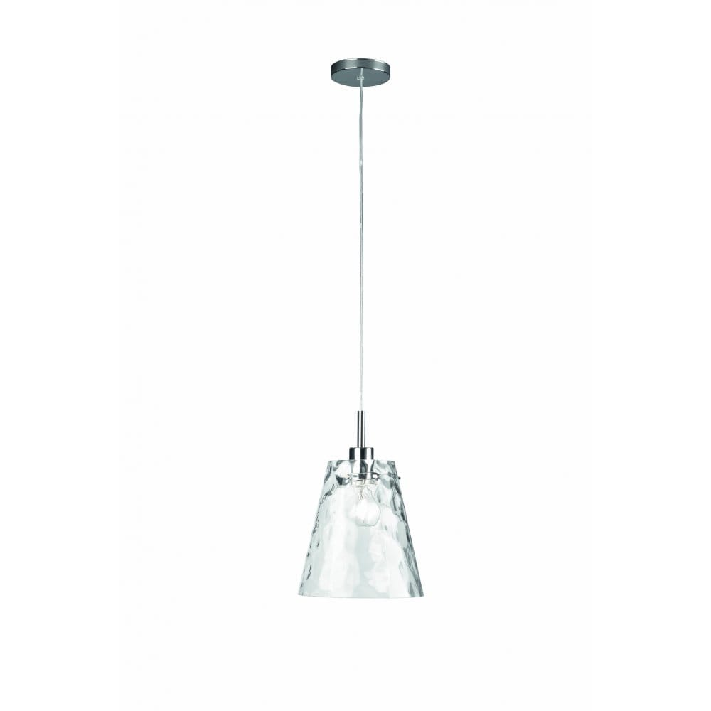 Ceiling Lights Glass Shades : Massive loyo single light ceiling pendant in polished chrome finish with clear glass shade