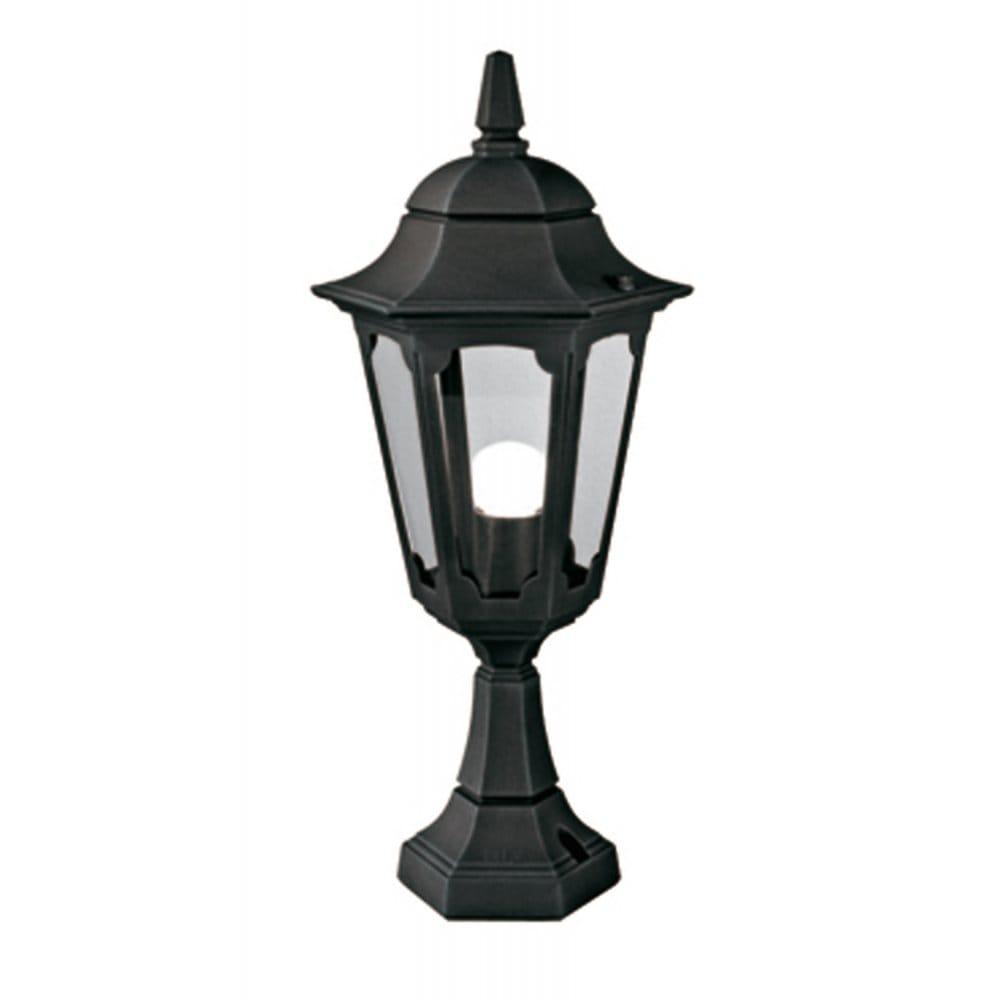Elstead Lighting Parish Outdoor Single Light Pedestal Post In Black Or Black