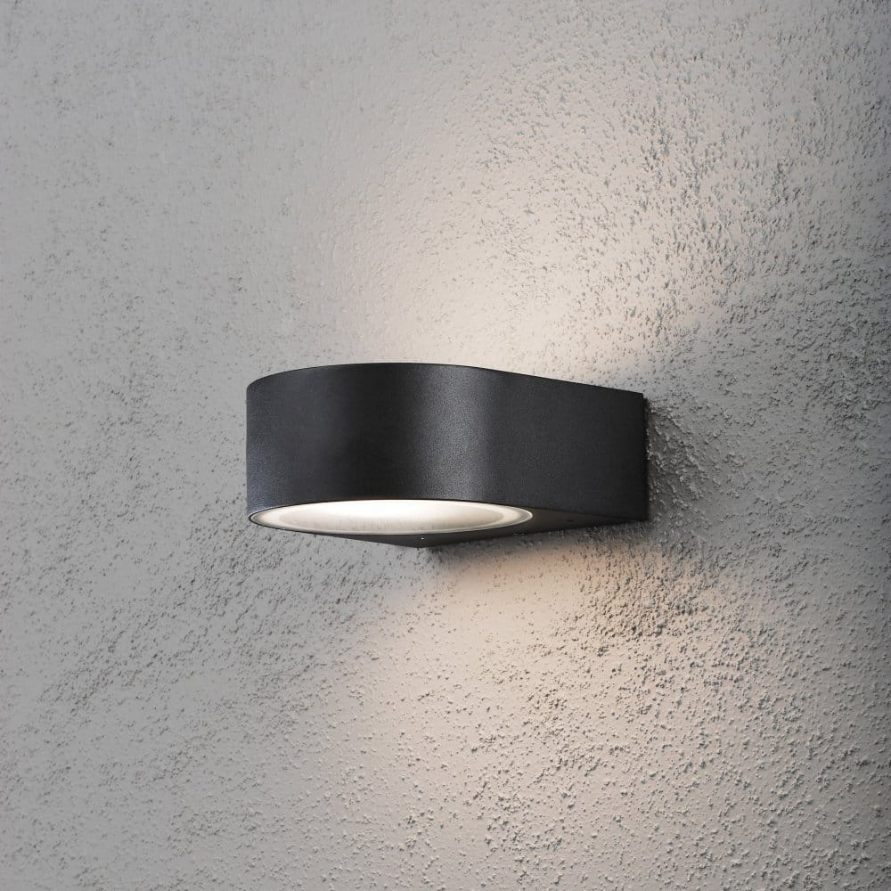 Fitting Outside Wall Lights : Konstsmide Teramo Single Light Outdoor Wall Fitting in Matt Black Finish - Konstsmide from ...