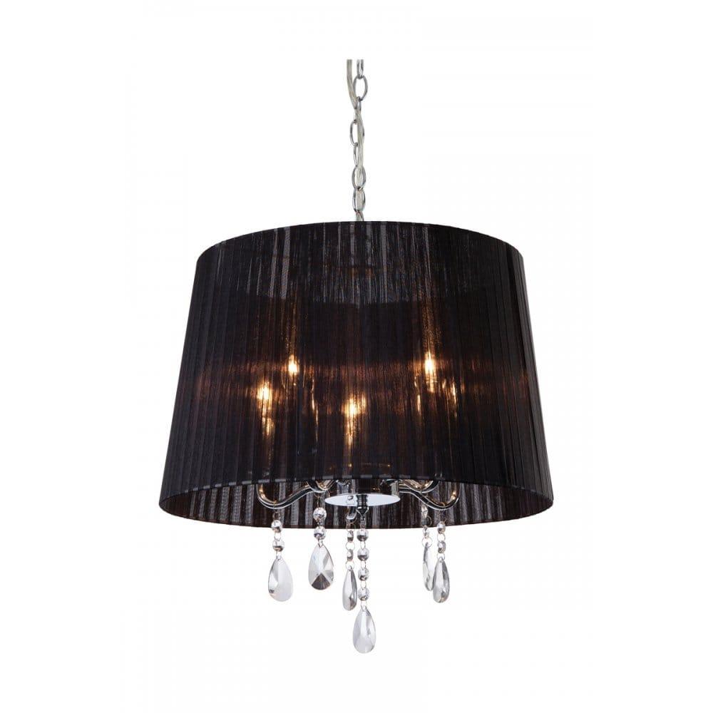 Pendant Lighting Black Shade : Firstlight organza light ceiling pendant in polished